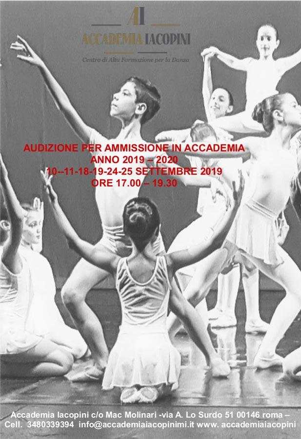 Accademia Iacopini audizione 2019-2020