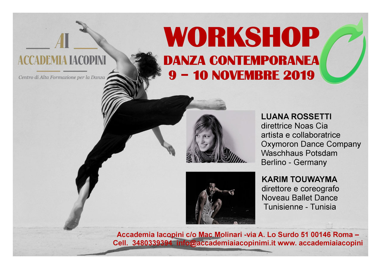 Accademia Iacopini Workshop Danza Contemporanea Roma 2019