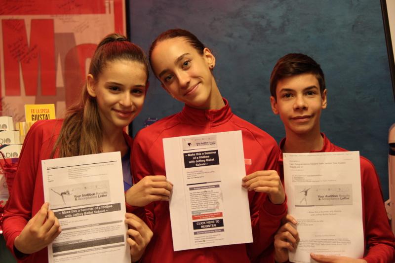 i tre allievi vincitori della borsa di studio